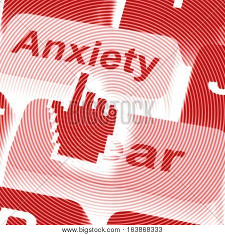 Anxiety Fear Keys Means Anxious Afraid 3D Rendering