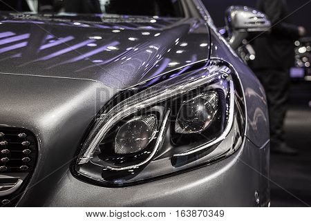The Closeup Front  technology reflection Headlight car