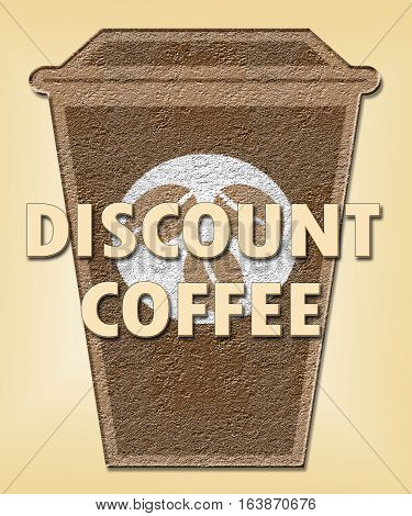 Discount Coffee Means Bargain Or Cheap Beverage