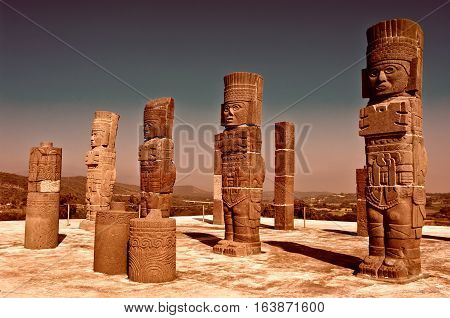 Atlantean Figure In Tula. Mexico