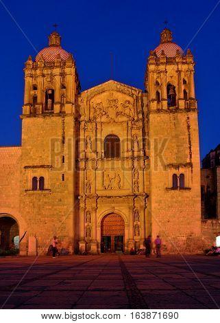 Church Of Santo Domingo De Guzman. Oaxaca, Mexico