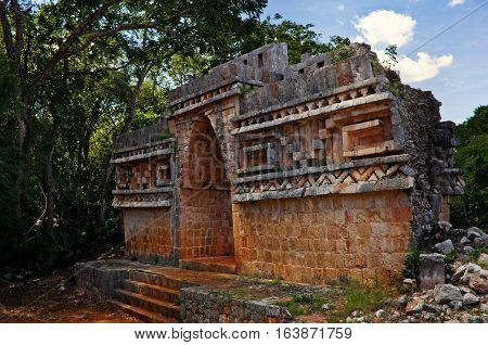 Labna  Archaeological Site In Yucatan Peninsula, Mexico.