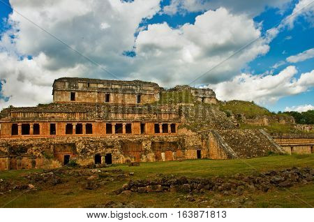Sayil Is A Maya Archaeological Site, Yucatan, Mexico