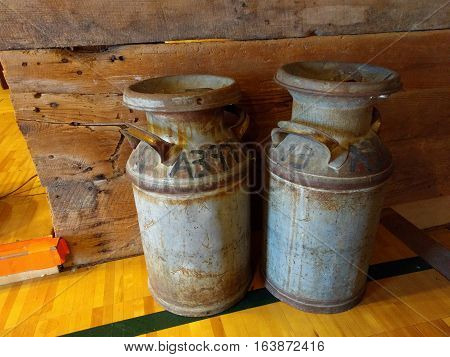 Old Style Collectible Milk Jugs from Dairy Farm