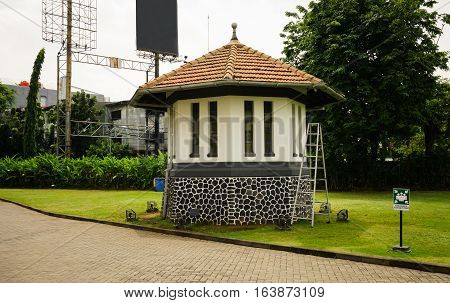 A watchtower in front of Kariadi General Hospital photo taken in Semarang Indonesia java