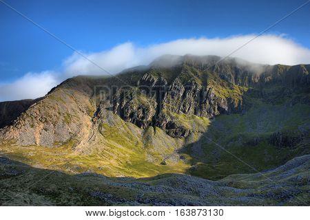 Cadair Idris Mountain Range In Snowdonia