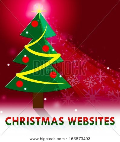 Chritmas Websites Showing Xmas Sites 3D Illustration