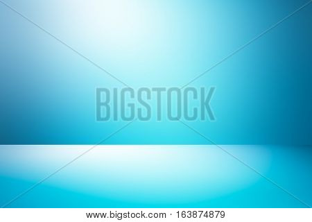 3D illustration background / Abstract blue room studio gradient used for background and display your product