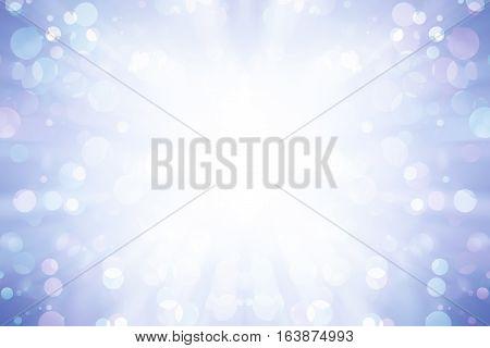 white bokeh blur background / Circle light on purple background / abstract light background