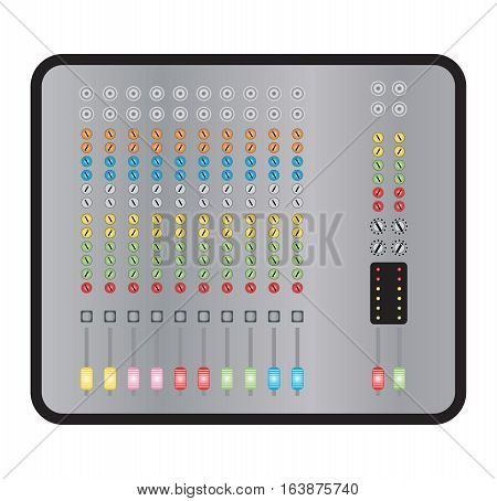 10 Chennel Sound Mixer Board