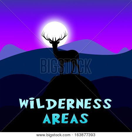 Wilderness Areas Shows Outdoors Reserve 3D Illustration