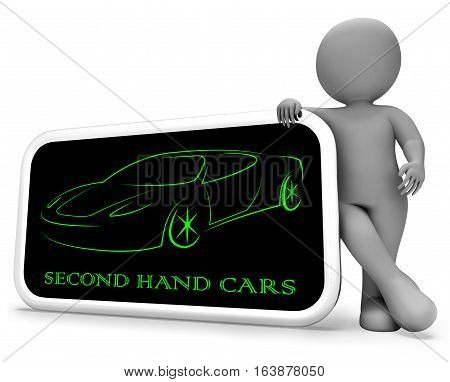 Second Hand Cars Means Used Transport 3D Rendering