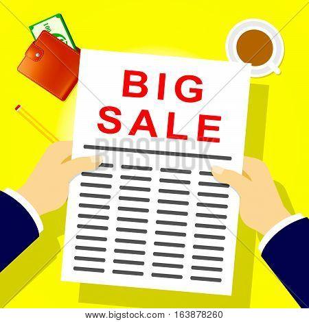 Big Sale Shows Closeout Discounts 3D Illustration
