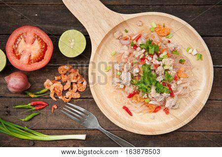 Glass Noodle Pork Nut Spicy Salad(Yum Woon Sen)