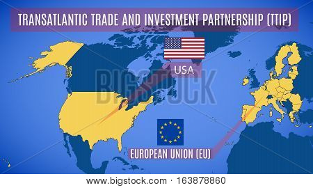 Schematic Map Of The Transatlantic Trade And Investment Partnership (ttip).