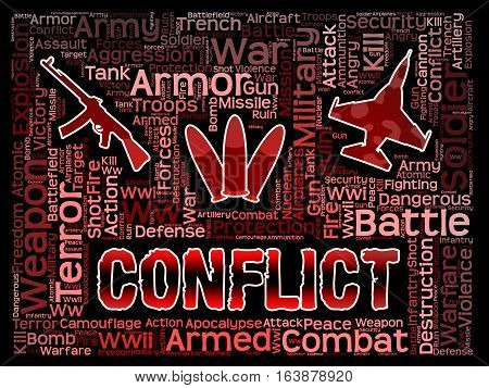 Conflict Words Meaning Military Action And Battles