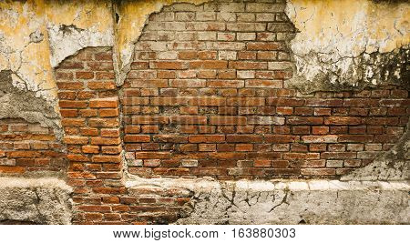 Broken ol brick wall photo taken in Semarang Indonesia java