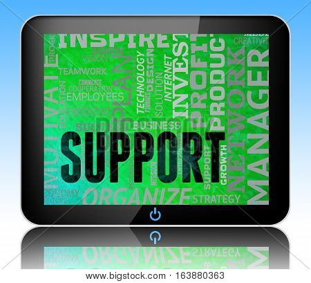 Support Words Indicate Help Support 3D Illustration