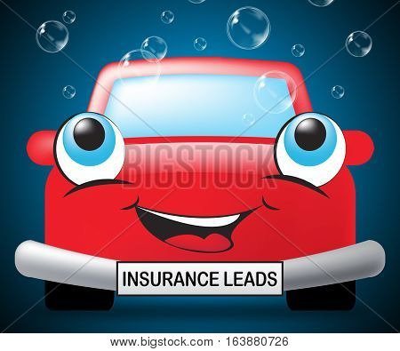 Insurance Leads Showing Policy Prospects 3D Illustration