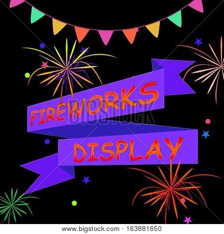 Fireworks Display Shows Firework Party 3D Illustration