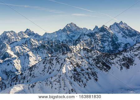 Winter Tatra Peaks.