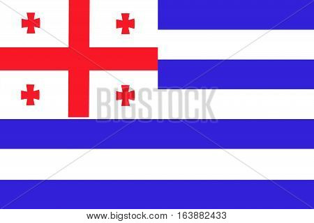 Adjara flag ,3D Adjara national flag illustration symbol.