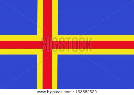 Aland national flag illustration symbol. Aland flag background