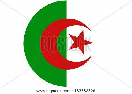 Algeria flag illustration vertical bicolor symbol. Algeria flag background
