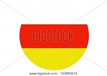 South ossetia flag illustration symbol  .South ossetia