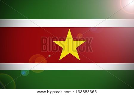 Suriname flag illustration symbol. Suriname flag .