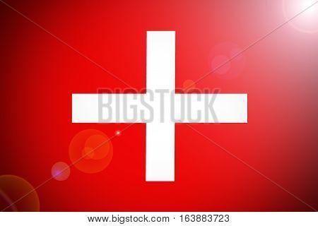 Switzerland national flag illustration symbol. Switzerland .