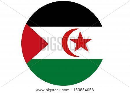 Western sahara flag illustration symbol. Africa .