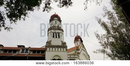 One of beautiful dome at Lawang Sewu building photo taken in Semarang Indonesia java