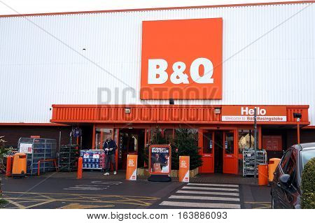 Basingstoke, Uk - December 05 2016: Exterior Of The B&q Superstore. B&q Is A Major Diy Home Improvem