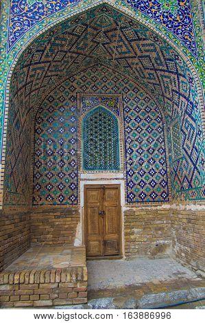 Tilya Kori Madrasah Registan Samarkand Uzbekistan Central Asia