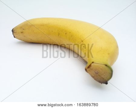 extreme close up of banana with white background