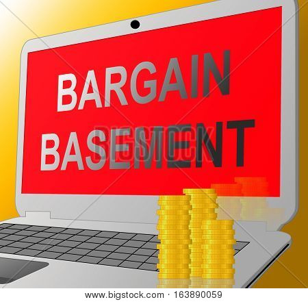 Bargain Basement Showing Retail Reduction And Clearance