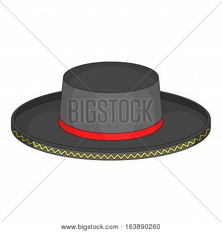 Black man fedora hat icon. Cartoon illustration of black man fedora hat vector icon for web