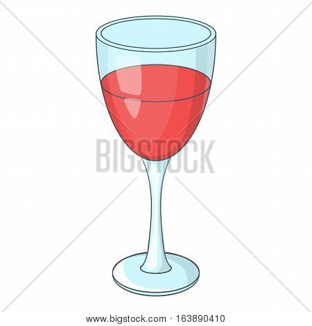 Glass of red wine icon. Cartoon illustration of glass of red wine vector icon for web