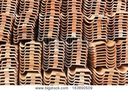 The background of tiles for roofing houses