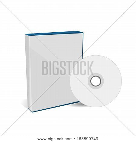Cd Or Dvd Disc Cover Box Mockup Eps 10 Vector