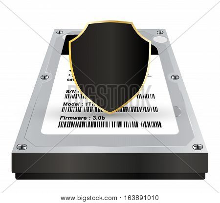 internal harddisk with a protection data shield