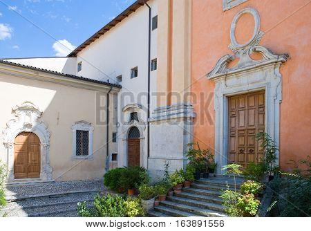 Italy Sulmona the courtyard of the monastic complex of Santa Chiara