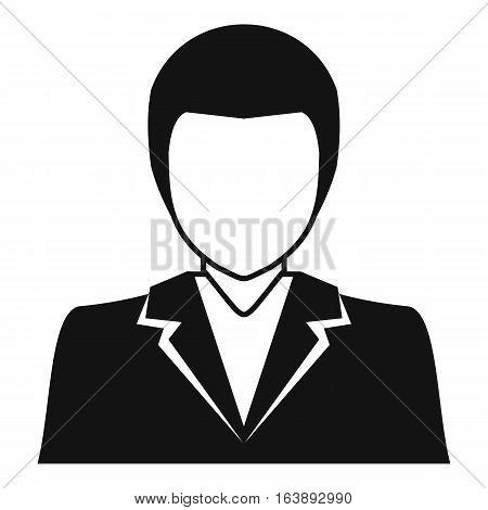 Male avatar profile picture icon. Simple illustration of male avatar profile picture vector icon for web