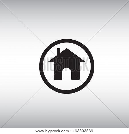 Home flat vector sign. Isolated homepage vector icon illustration. Homepage button illustration.