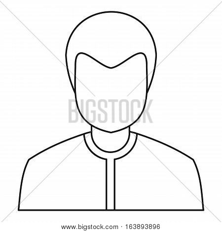 Male avatar icon. Outline illustration of male avatar vector icon for web