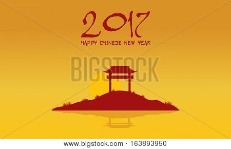 Landscape of Chinese theme vector collection stock