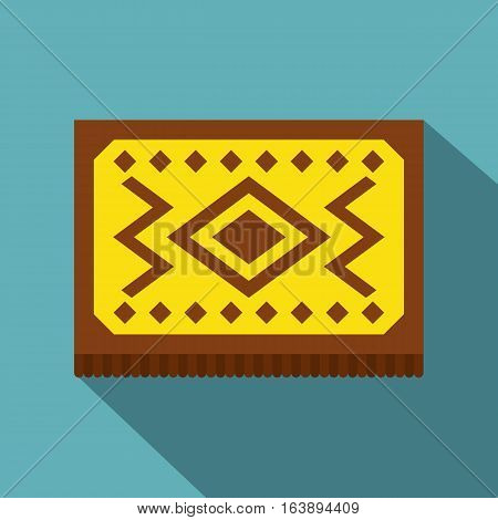 Yellow Turkish Carpet Icon Flat Illustration Of Vector For Web Isolated