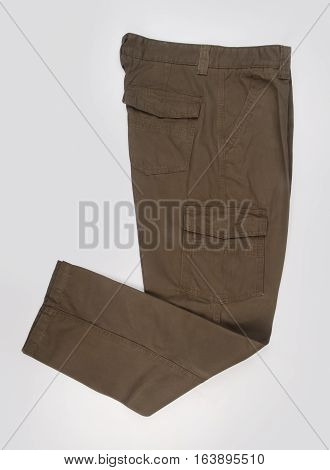 Pant's Or Men's Trousers On A Background.
