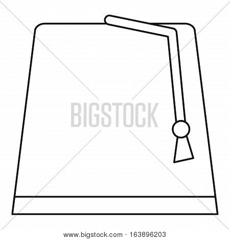 Turkish hat, fez icon. Outline illustration of turkish hat, fez vector icon for web